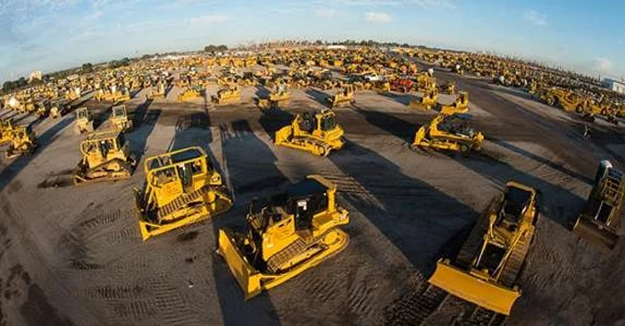 Ritchie Bros Orlando auction ground of construction equipment