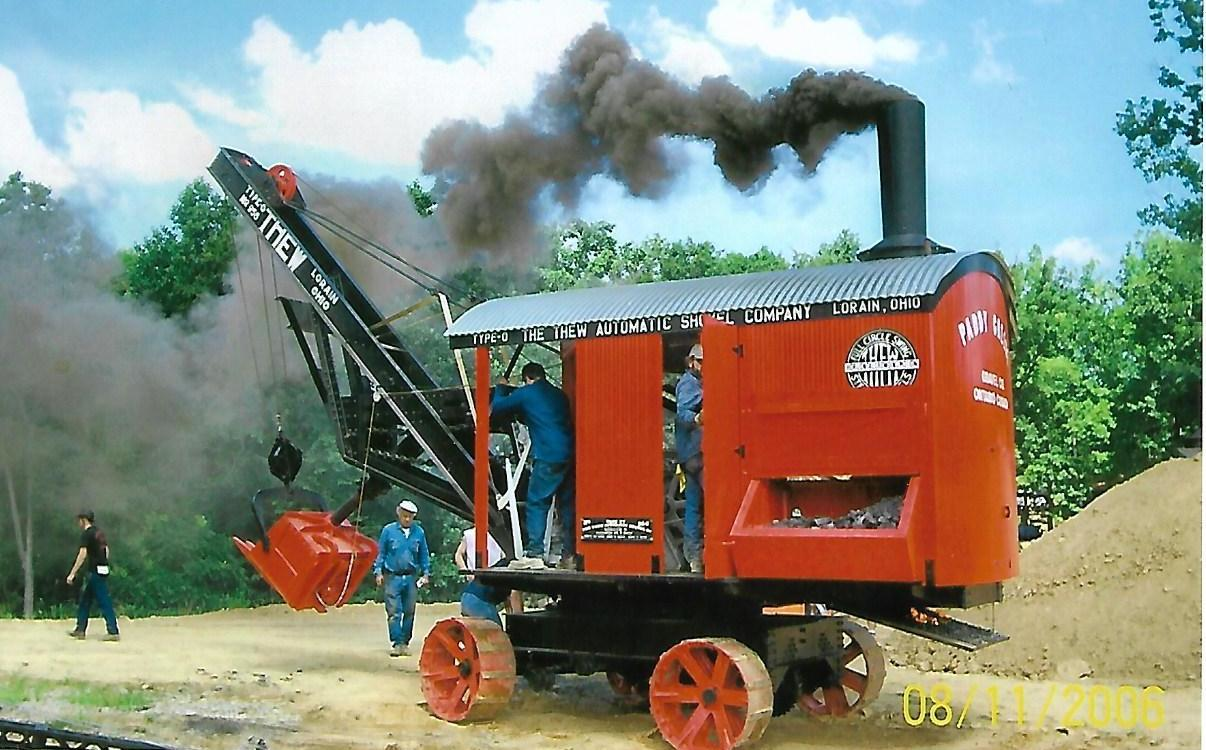 Bob Kelly's 1913 Type-O Thew steam shovel.