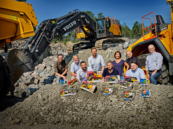 volvo construction equipment with volvo toys