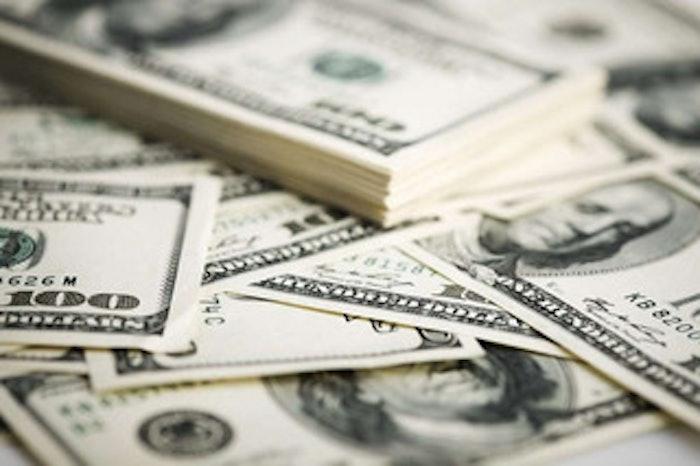 Stacks of 100 hundred dollar bills