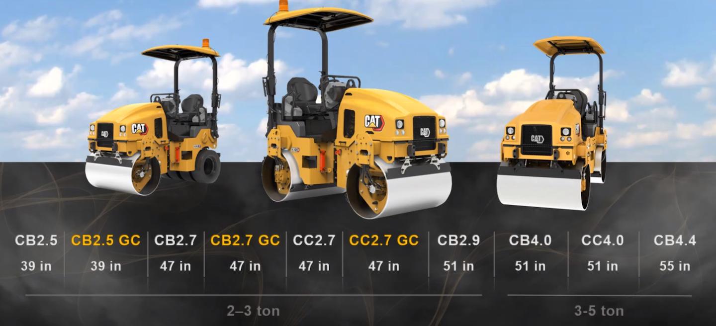 Caterpillar tandem compactors lineup