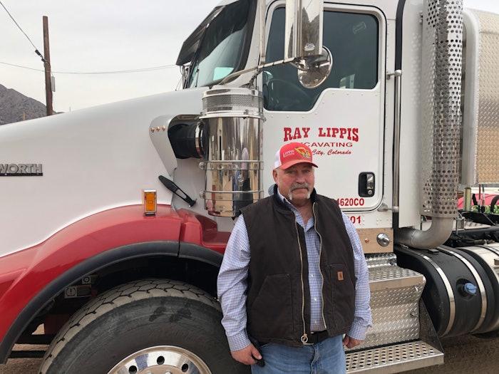 Ray Lippis outside of semi truck