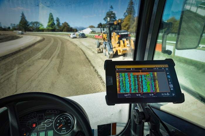 construction technology inside vehicle on job site