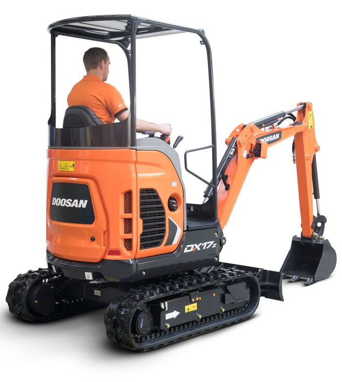 The electric Doosan 1.7-ton DX17Z was shown as a prototype at last year's ConExpo.