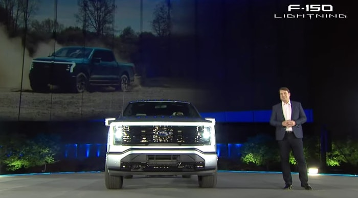 Ford CEO Jim Farley praised his company's first electric F-150 last night during its reveal. 'It hauls ass and tows like a beast,' he said.