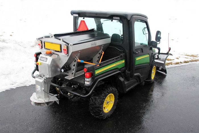 Hilltip's new IceStriker 500 salt and sand spreader