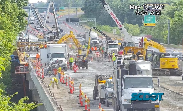 I-77 Bridge Deck Rebuild Crews