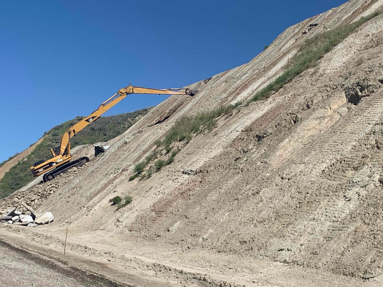 Skanska Wildlife Crossing Long Reach Excavator