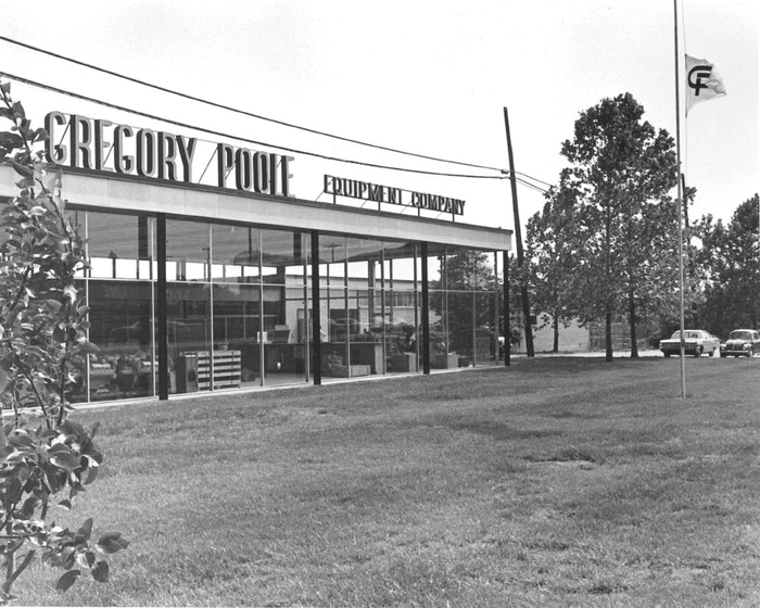 An historical photo of Gregory Poole's Raleigh facility.