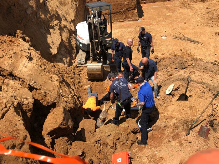 Asheville trench rescue