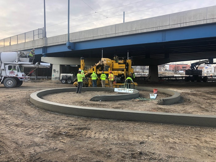 Overpasses and other obstacles won't interrupt work when you can switch between GPS and total stations with Topcon's LongLink communication.