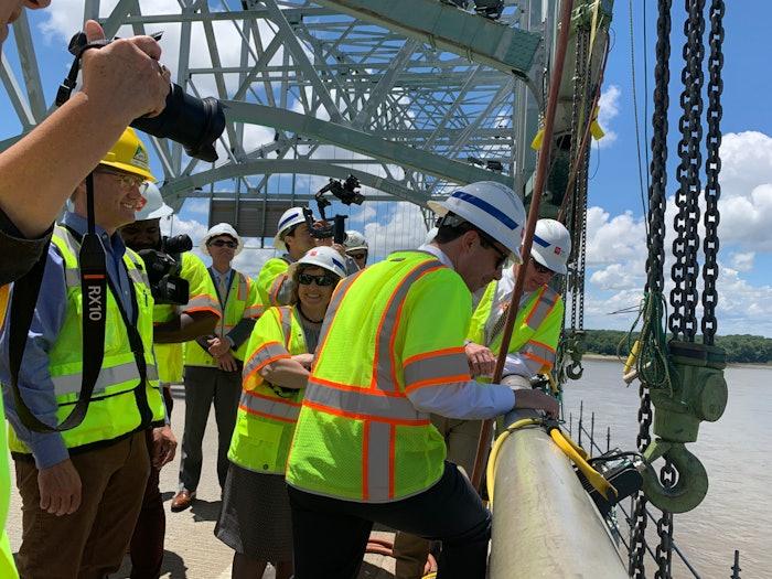 Buttigieg inspects closed de Soto Bridge