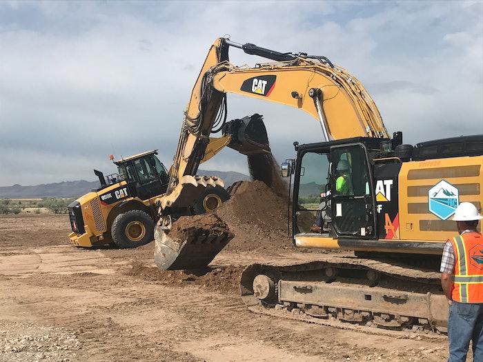 Construction crew on site