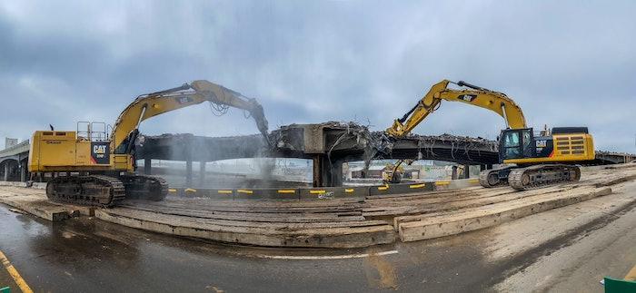 Viaduct demolition denver