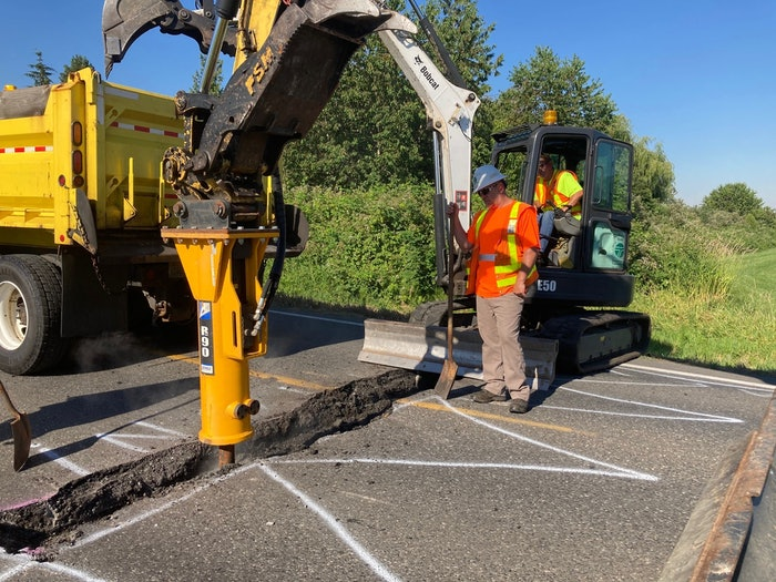 Washington heat road buckles repairs