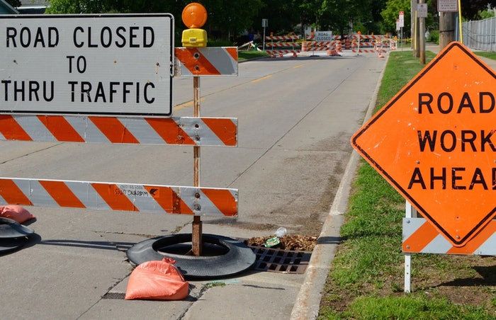 road closed work zone