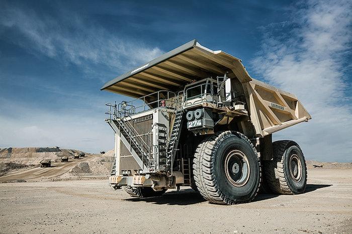 liebherr launch mining truck