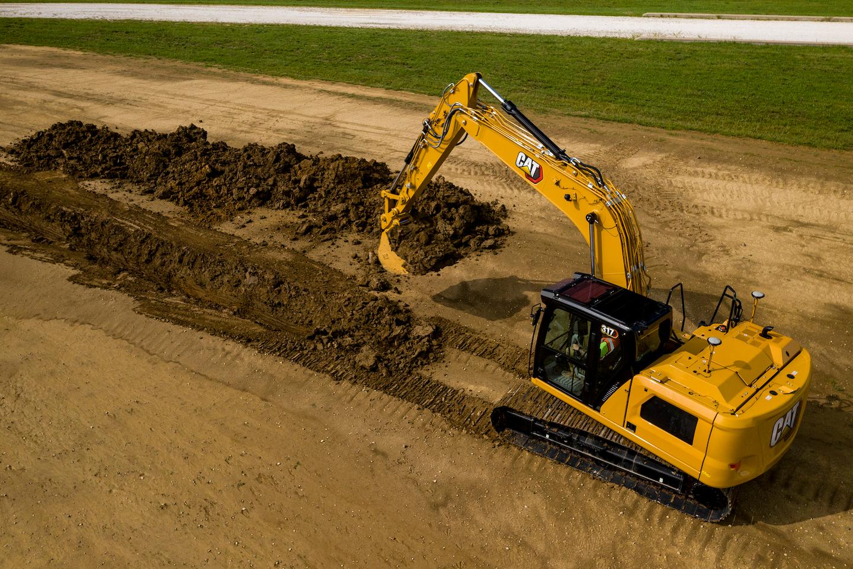Cat 317 excavator