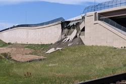 Colorado highway wall collapse U.S. 36