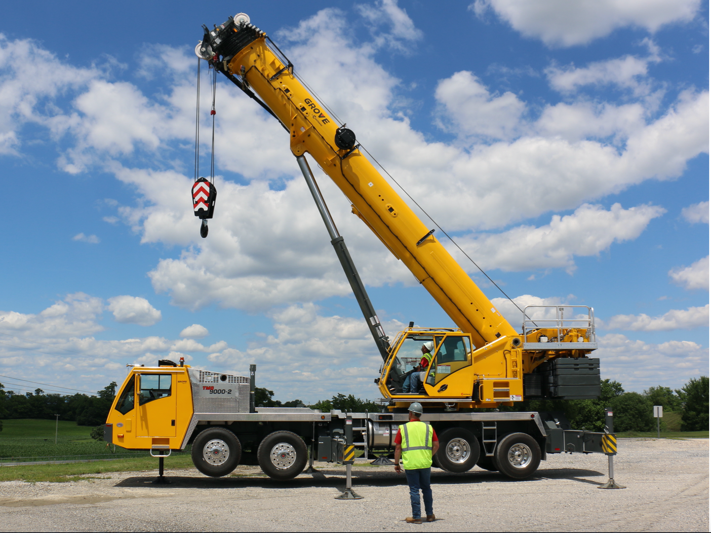 Grove's refreshed TMS9000-2 truck crane lost 1,000 pounds and gained 25 horsepower.