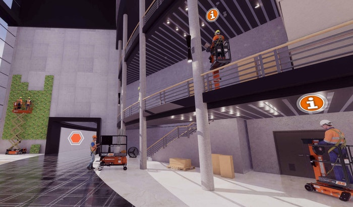 JLG's virtual reality modules.