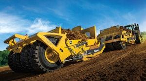 John Deere towed scraper