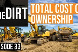 Construction Equipment with text reading The Dirt Total Cost of Ownership Episode 33