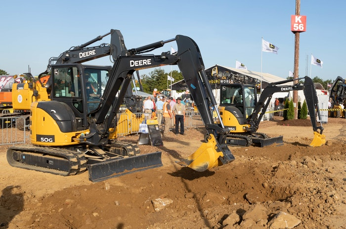 deere equipment at utility expo