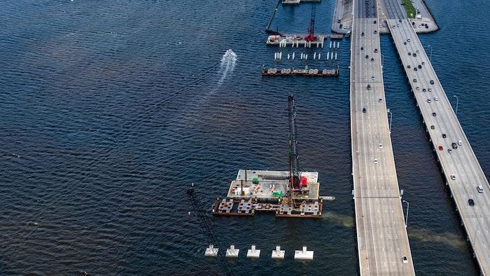 Howard Frankland Bridge construction Tampa