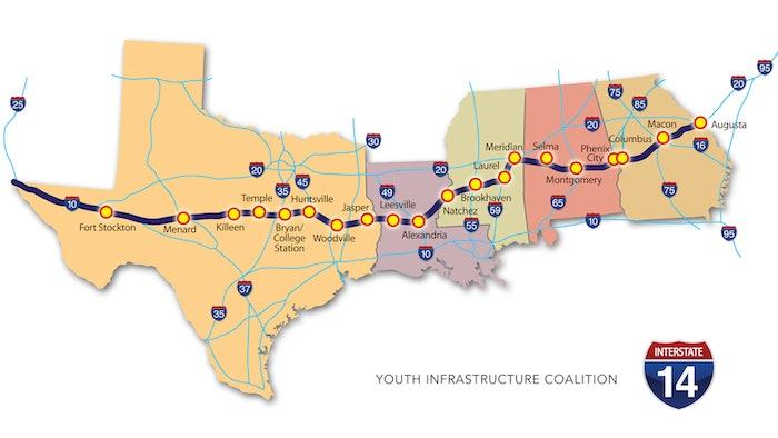 Interstate 14 future map