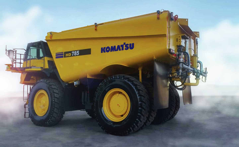 komatsu water truck