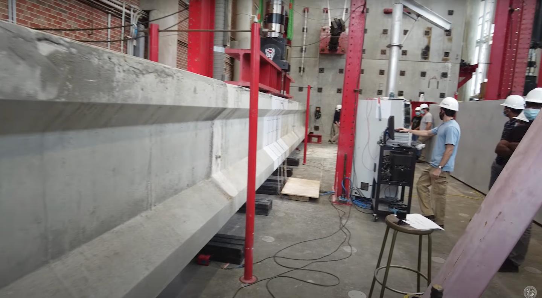 Outer Banks bridge girder undergoes testing