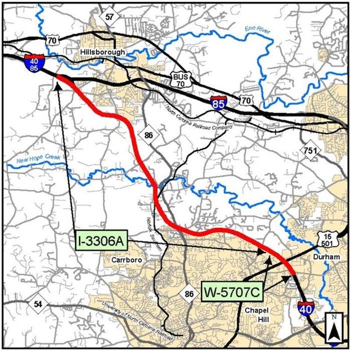 widening interstate 40 NCDOT map