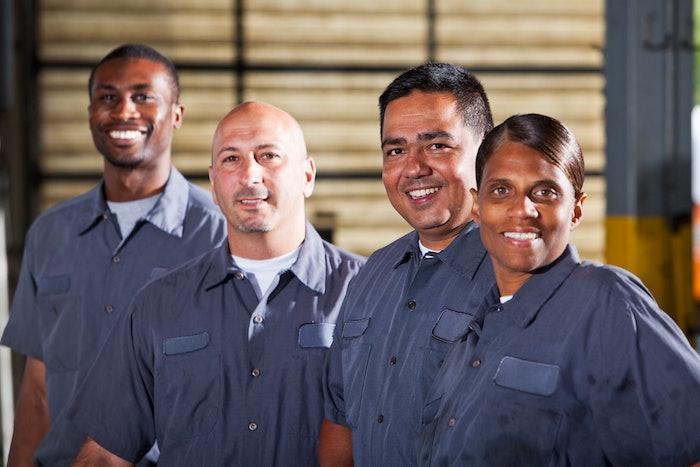 diverse equipment technicians