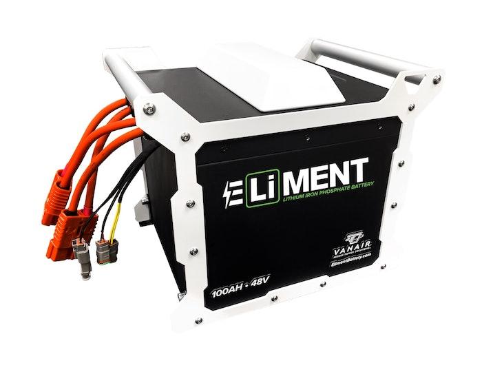 Vanair Eliment battery lithium ion phosphate