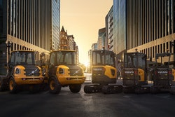 Volvo CE electric compact machine lineup